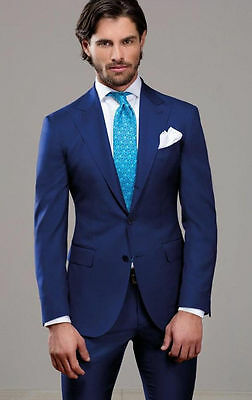New Arrive Blue Men's Wedding Suit Formal Occasion Bridegroom Tuxedos CustomMade