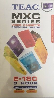 TEAC MXC Series VHS Tape E-180 SP 3 Hours LP 6 Hours Brand New Sealed Free Post
