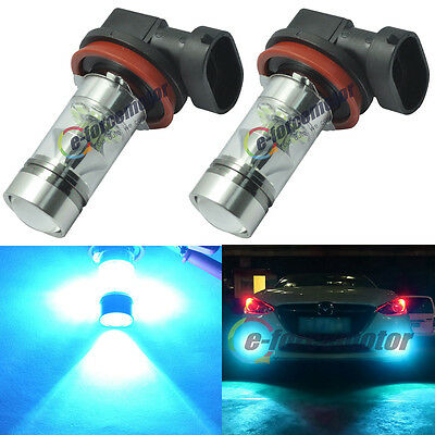 2x Samsung H11 H8 LED Fog Light Bulbs 8000K Ice Blue 100W Driving Daytime Lamps