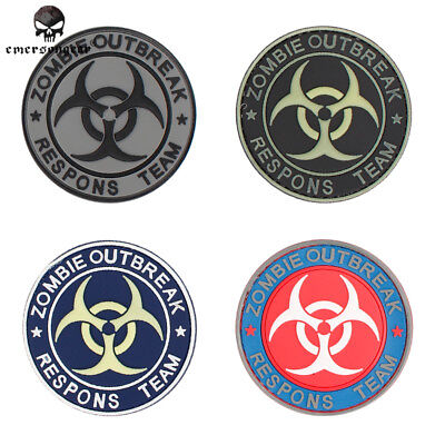EMERSON PVC Zombie Outbreak Patch Tactical Military Airsoft SWAT 3D Badge EM5555