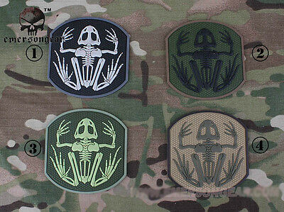 EMERSON Frog Skeleton PVC Patch Tactical Hunting Airsoft SWAT 3D Badge 5551