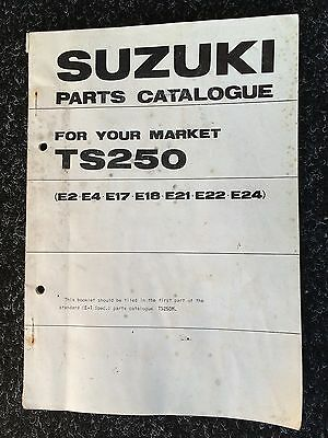 Genuine (OE) Suzuki TS250 1975 Parts Catalogue 99000-91474-002