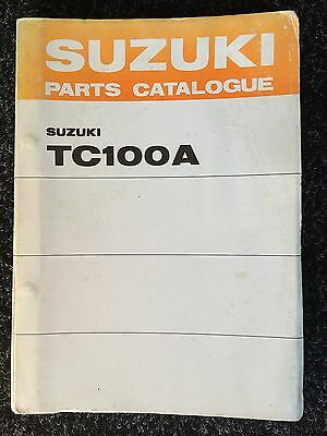 Genuine (OE) Suzuki TC100A Parts Catalogue 99000-93080