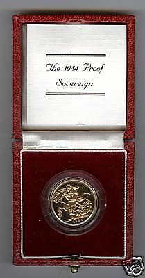 1984 Boxed Proof Gold Full Sovereign With Certificate