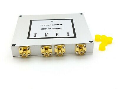 1PCS 4 Way Power Divider Splitter 380-2500MHz for Cell Phone Signal Booster