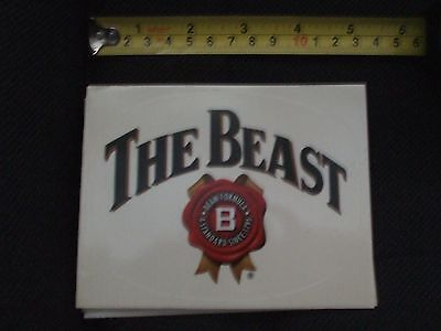 jim beam the beast oval sticker