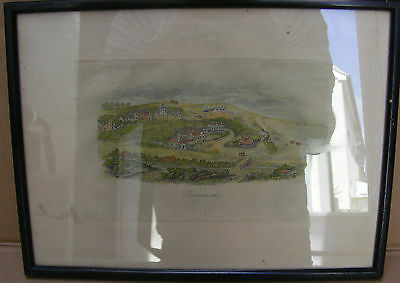 Antique Hand Coloured Print Of Bournemouth C.1830's