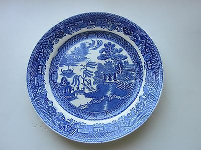 "Wood and Co. Blue Willow Plate made in England Vintage 8"" Dia"