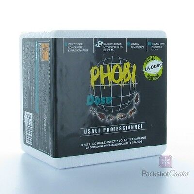 Phobi Dose 10 sachets insecticides water-soluble - Dust Mites Control powerful