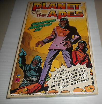 Planet Of The Apes Colorforms Set 1974 Vintage Unused Missing 3 Pieces Very Nice