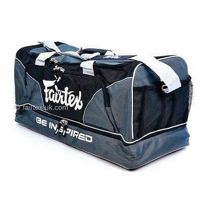 Fairtex Heavy Duty Muay Thai Boxing Gym Bag MMA Holdall - Grey