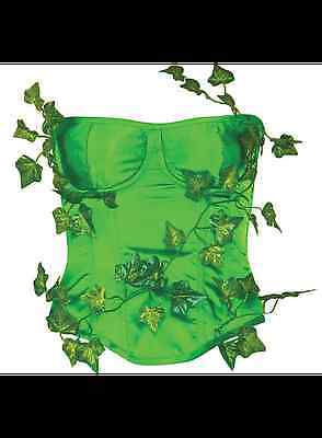DC Comics LICENSED POISON IVY Deluxe Sz M/L Costume PROP CORSET Lace Up COSPLAY