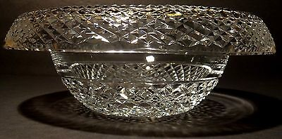 Vintage Waterford Crystal Turnover Rollover Master Cutter Bowl ~ Made In Ireland