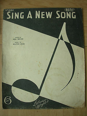 Vintage Sheet Music - Sing A New Song - Piano Voice Ukulele 1932