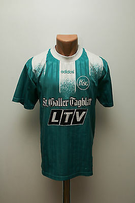 ST. GALLEN SWITZERLAND 1990`s HOME FOOTBALL SHIRT JERSEY ADIDAS VINTAGE