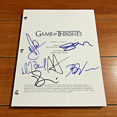 GAME OF THRONES SIGNED FULL PILOT SCRIPT BY +4 CAST w/ PROOF - SOPHIE TURNER