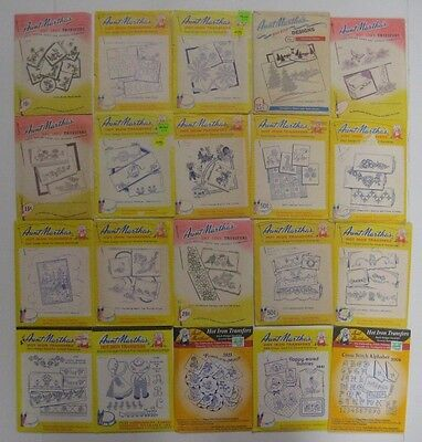 Vtg 20 Aunt Martha's EMBROIDERY Hot Iron Transfer Patterns Lot #2 Autumn Floral