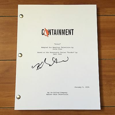 KRISTEN GUTOSKIE SIGNED CONTAINMENT FULL PILOT SCRIPT  w/ EXACT PROOF