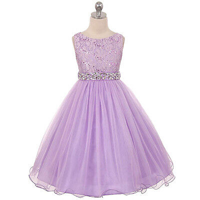 LILAC Flower Girl Dresses Pageant Bridesmaid Birthday Wedding Formal Graduation
