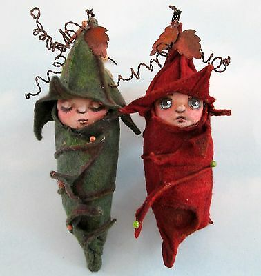"*new* Cloth Folk Art Doll (E-Pattern) ""pod Babies"" By Susan Barmore"