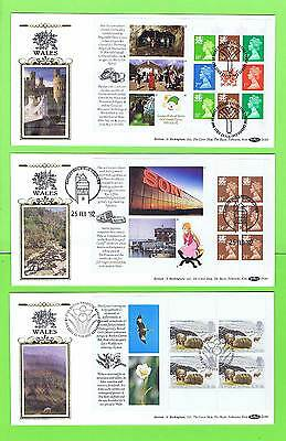 G.B. 1992 Wales booklet panes on Benham First Day Covers