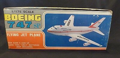 NOS Vintage Battery Operated Toy Boeing 747SP In Box 1/175 Scale Poty Taiwan
