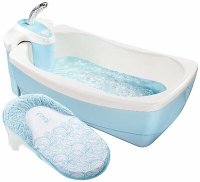Summer Infant Lil Luxuries Whirlpool Baby Bath Spa and Shower - SEE VID IN DESC
