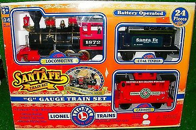 Lionel G Gauge Santa Fe Train Set Battery Powered #62048 - Tested Running Great