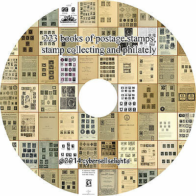 223 books library of postage stamps, stamp collecting and philately on one DVD