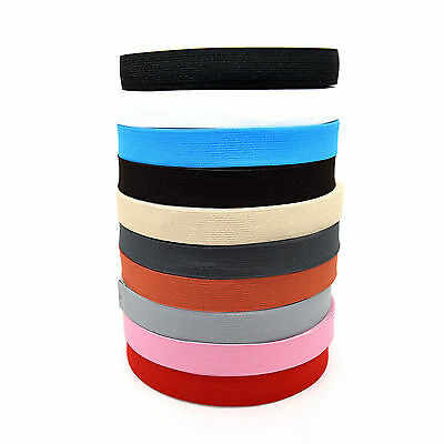 25mm / 1 inch Strong Flat Woven Elastic Waistband Dressmaking Cuff etc HQ