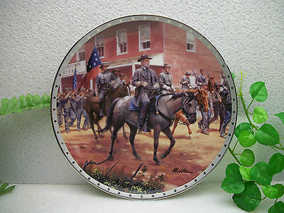 Danbury Mint Heroes of the Confederacy A DISTANT THUNDER Collector Plate