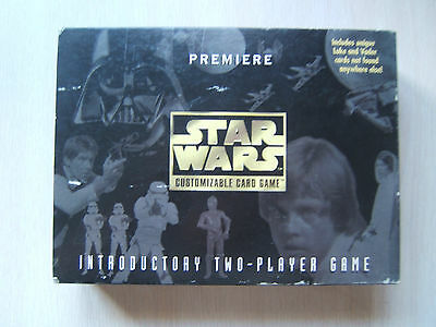 Star Wars Customizable Collectible Trading Card Game 181 Cards with Box & Rules