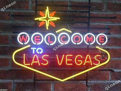 "24"" 2016 New Style Welcome to Las Vegas Game Room Beer Home Bar Neon Sign Light"