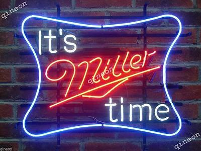 2016 New Style It's Miller Time Miller Lite Beer Tiki Home Bar Neon Sign Light
