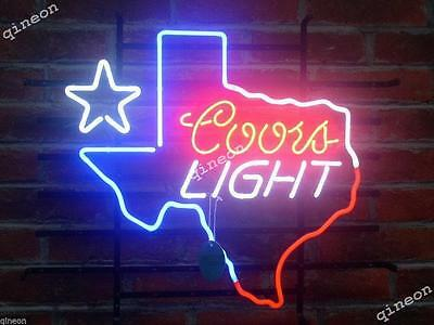 2016 Rare New Style Coors Light Texas Map Outline Star Home Beer Bar Neon Sign