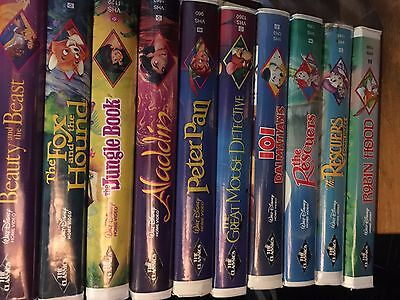 10 Rare Disney Black Diamond Classic VHS Tapes