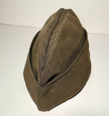 Vintage Military Cap Garrison Man's Poly Wool Blend 7 1/4