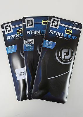 New Pack Of Three Footjoy Rain Grip Women's Right Handed Golf Gloves, Size Xl