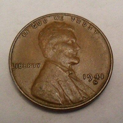 1941 S Lincoln Wheat Cent / Penny Coin  **FREE SHIPPING**
