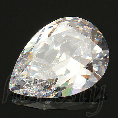 13x18MM Attractive White Sapphire Pear Cut Lustrous Loose Gemstone Gem