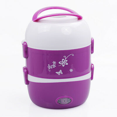 Mini Lunch Box Electric Stainless Steel Steamer Pot Portable Heating Rice Cooker