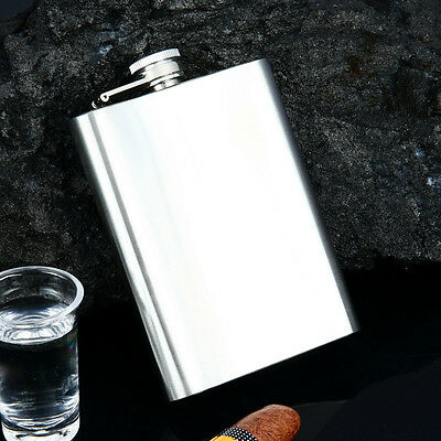 Stainless Steel Hip Whiskey Liquor Alcohol Party Drinking Pocket Flask + Funnel