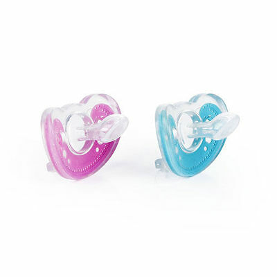 The First Years Gumdrop Orthodontic Infant Pacifier Pink/blue *2 (Color Random)