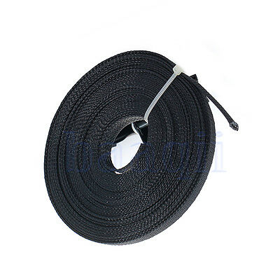 10m 8mm Braided DENSE PET Cable Sleeving Audio Sleeve quick easy install DA