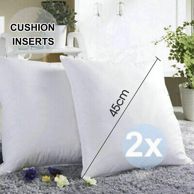 2x Cushion Pillow Inserts Premium Polyester Filling Fancy 45x45cm High Quality