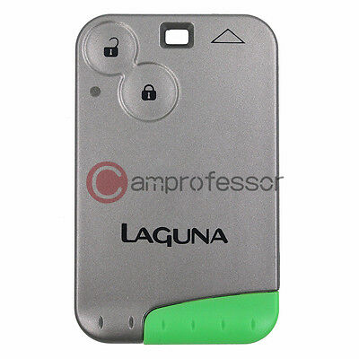 Keyless Smart Card Remote Key Fob 2 Button for Renault Laguna Espace 433MHZ