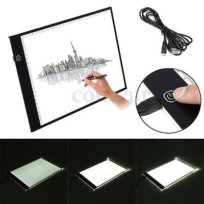 A4 Dimmable Ultra Thin Art Stencil Pad Light Box Tracing Board Tattoo Drawing UK