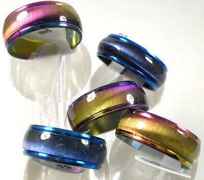 50pcs Cat Eye Stainless Steel Rings for Men and Women Wholesale Jewelry Job Lots