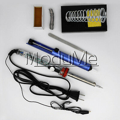 220V 60W Adjustable Electric Temperature Gun Welding Soldering Iron Tool kit MO