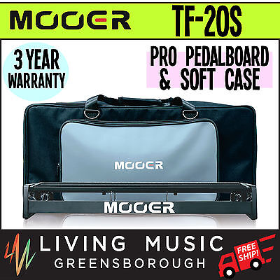 NEW Mooer TF-20S Transform Series Pro Guitar Effect Pedal Board & Soft Case